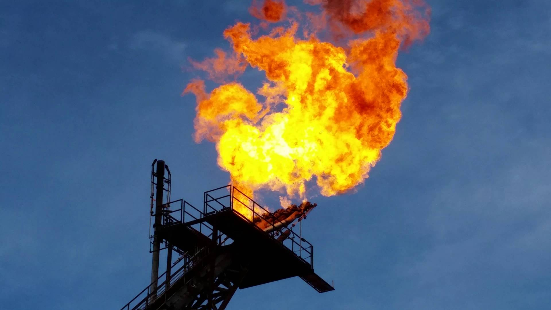 carbon activation oil field flare