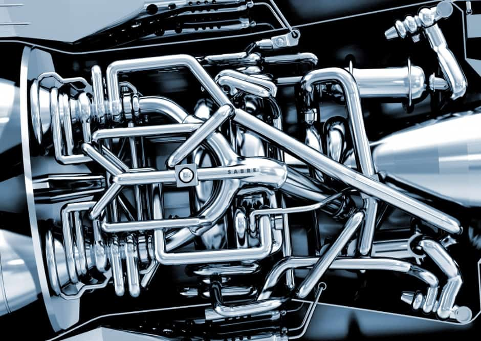 Detail of Reaction Engines' SABRE engine