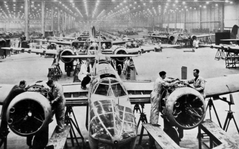 Producing bombers in 1939