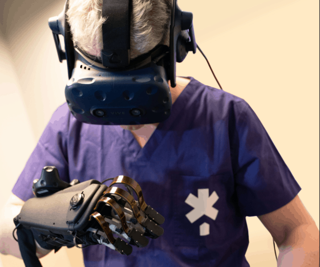 VR surgery simulation adds haptic glove capability | The