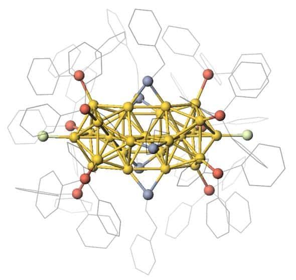 Semiconducting metal nanocluster